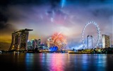 Title:Singapore hotel night fireworks-Cities architectural photo wallpaper Views:12202