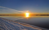 Title:lake sunset beach-Nature Landscape HD wallpaper Views:3456