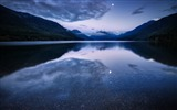 Title:night lake mountains water reflection-Nature Landscape HD wallpaper Views:2587