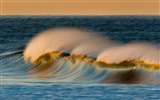 Title:wave ocean sea spray-Nature Landscape HD wallpaper Views:2520