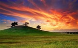 Title:sunset behind the mountains-landscape HD Wallpaper Views:2936