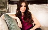 Title:Lily Collins beauty photo HD wallpaper Views:12360