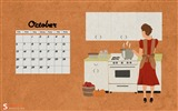 Title:Retro October-October 2013 Calendar Wallpaper Views:2507