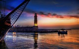 Title:lighthouse at twilight-landscape HD Wallpaper Views:2613