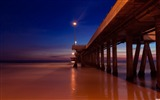 Title:pier at night-landscape HD Wallpaper Views:2913