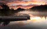 Title:misty lake pontoon-Landscape HD Wallpaper Views:3217