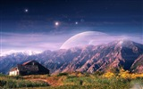Title:mountain house planet-Nature HD Wallpaper Views:3471