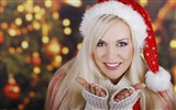 Title:girl blonde smile christmas new year-Holidays wallpaper Views:4149