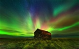 Title:Amazing colorful fantasy landscape Aurora HD Wallpaper Views:13300