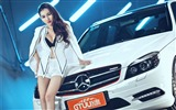 Title:Mercedes-Benz C-Class beauty model photo wallpaper Views:4705