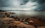 Title:cloudy stony coast grass water-HD Photo Wallpaper Views:2059
