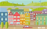 Title:Colorful City-May 2014 calendar wallpaper Views:2835