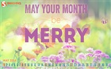Title:May Your Be Merry-May 2014 calendar wallpaper Views:2803