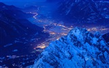 Title:Snow City Night-Bing theme wallpaper Views:2457
