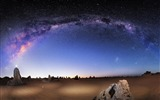 Title:Beautiful night scenery Galaxy HD Wallpaper Views:14219