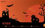 Title:Halloween Is Coming-October 2014 Calendar Wallpaper Views:3658