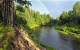 Title:forest hill side river-Landscape HD Wallpaper Views:1767