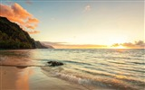 Title:Coast Waves Sunset-Scenery HD Wallpaper Views:2704