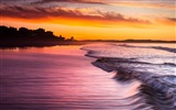 Title:Beach Waves Sunset-HD Desktop Wallpaper Views:2771