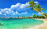 Title:Paradise Tropical Beach-HD Desktop Wallpaper Views:2474
