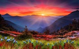 Title:Cool Mountain Sunset-Fantasy HD Wallpaper Views:5856