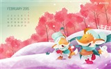 Title:February 2015 Calendar Widescreen Themes Wallpaper Views:9679