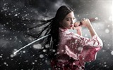 Title:samurai kimono sword girl-HD Widescreen Wallpaper Views:5226