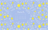 Title:Fresh Lemons-March 2015 Calendar Wallpaper Views:2756