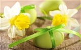 Title:daffodils and easter eggs-High Quality HD Wallpaper Views:1820