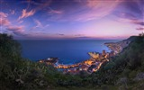 Title:monaco purple clouds sunset-High Quality HD Wallpaper Views:2324