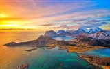 Title:Lofoten Islands Sunset-Nature HD Wallpaper Views:2225