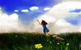 Title:Girl Butterfly Play-High Quality Wallpaper Views:1677