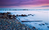 Title:pebble coast evening-Photography HD wallpaper Views:1659