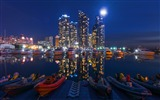 Title:Buildings night sky boats-Cities HD Wallpaper Views:1348