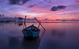 Title:Purple boat at sunrise-Nature Photo HD Wallpaper Views:2244