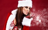 Title:Beauty santa girl-2016 Christmas Wallpaper Views:934