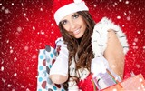 Title:Santa girl gifts-2016 Christmas Wallpaper Views:1740