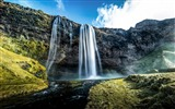 Title:Waterfalls iceland-HDR Photography Wallpaper Views:1762
