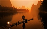 Title:Asia China Li River Travel Sunset-Scenery HD Desktop Wallpaper Views:1559