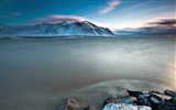 Title:Calm Ocean Mountain Winter-Nature HD Wallpaper Views:1710