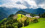 Title:Houses Hill Mountains-Nature HD Wallpaper Views:1224
