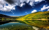 Title:Mountain Flower Lake hdr-Nature HD Wallpaper Views:1446