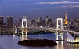 Title:Rainbow Bridge and Tokyo Tower in Japan-Windows 10 Theme HD Wallpaper Views:2759