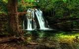 Title:Spring Waterfall Forest HDR-Nature HD Wallpaper Views:1117