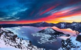 Title:Crater lake sunrise winter-Perfect Scenery HD Wallpaper Views:1293