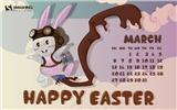Title:Happy Easter-March 2016 Calendar Wallpaper Views:1526