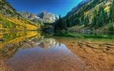 Title:Maroon bells reflected lake-Nature photography HD wallpaper Views:1148