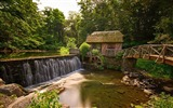Title:Old watermill forest river-Nature photography HD wallpaper Views:1432