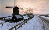 Title:Old windmill snowy field-Nature photography HD wallpaper Views:1350