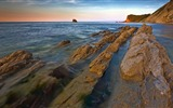 Title:Sharp rocky trail ocean-Nature photography HD wallpaper Views:1004